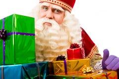Sinterklaas showing  gifts Royalty Free Stock Photos