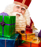 Sinterklaas showing  gifts Royalty Free Stock Photography
