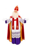 Sinterklaas  standing on white background Royalty Free Stock Photo