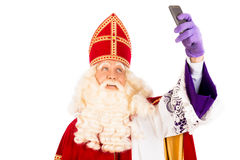 Sinterklaas taking Selfie Royalty Free Stock Photos