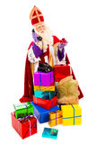 Sinterklaas with telephone Stock Photo