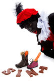 Sinterklaas, typical Dutch event with zwarte piet Royalty Free Stock Images