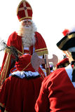 Sinterklaas und Retinue Lizenzfreie Stockfotos