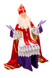 Sinterklaas on white background Royalty Free Stock Images