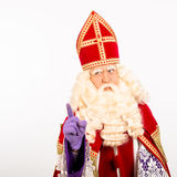 Sinterklaas on white background Royalty Free Stock Image