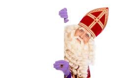 Sinterklaas wordt geïsoleerd die met Royalty-vrije Stock Fotografie