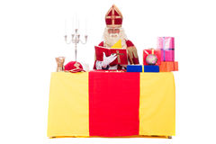 Sinterklaas is working Royalty Free Stock Image