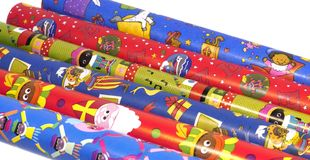 Sinterklaas wrapping paper Stock Photography