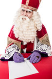 Sinterklaas writing on a list Royalty Free Stock Photography