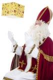Sinterklaas y presente fotografía de archivo libre de regalías