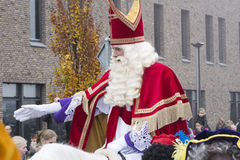 Sinterklaas and Zwarte Piet arriving Royalty Free Stock Images
