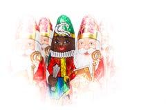 Sinterklaas and Zwarte Piet. Dutch chocolate figure Royalty Free Stock Image