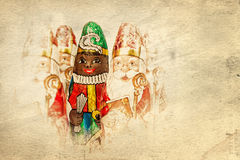 Sinterklaas Zwarte Piet . Dutch chocolate figure Royalty Free Stock Images
