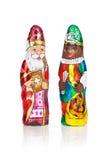 Sinterklaas Zwarte Piet Figura holandesa del chocolate Foto de archivo libre de regalías