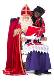 Sinterklaas and Zwarte Piet Stock Photos