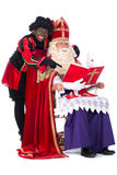Sinterklaas and Zwarte Piet Stock Images