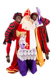 Sinterklaas and Zwarte Piet taking Selfie Stock Images