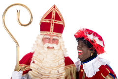 Sinterklaas with Zwarte Piet Stock Images