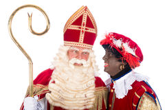 Sinterklaas with Zwarte Piet Stock Photography