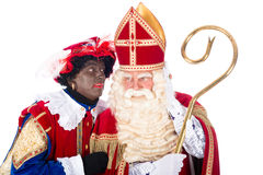 Sinterklaas with Zwarte Piet Stock Photos