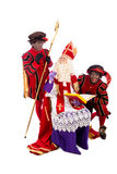 Sinterklaas and Zwarte Pieten Stock Image
