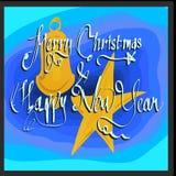 Sinterklas de la Feliz Navidad y de la Feliz Año Nuevo azules fotos de archivo libres de regalías