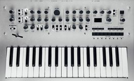 sintetizador análogo metálico foto de stock royalty free