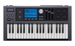 Sintetizador da música Piano eletrônico do estilo realístico Vetor ilustração do vetor