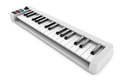 Sintetizador do piano de Digitas rendição 3d Fotos de Stock