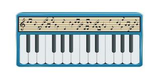 Sintetizador electrónico con el indicador digital que exhibe N musical stock de ilustración