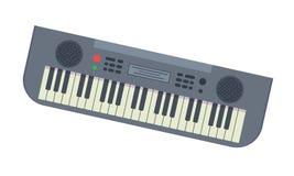 Sintetizador musical con la porción de diversas llaves y funciones libre illustration
