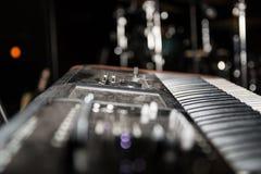 Sintetizador musical eletrônico do teclado foto de stock royalty free