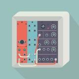 Sintetizzatore modulare dell'icona con i cavi Immagini Stock Libere da Diritti