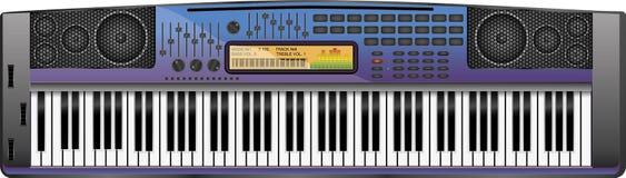 Sintetizzatore viola-blu Fotografia Stock Libera da Diritti