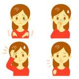 Sintomas 01 da doença ilustração do vetor