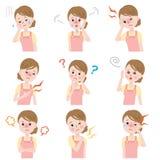 Sintomas da menopausa Foto de Stock Royalty Free