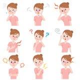 Sintomas da menopausa Fotos de Stock Royalty Free