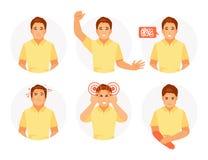 Sintomas de um curso ilustração do vetor