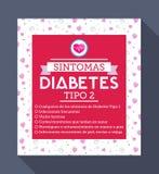 Sintomas Diabetes tipo 2 Spanish text Royalty Free Stock Photo