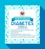 Sintomas Diabetes tipo 2, Spanish translation: Symptoms of type 2 Diabetes Stock Photo