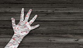 Sintomi della malattia di morbillo illustrazione vettoriale