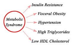 Sintomi della sindrome metabolica illustrazione di stock