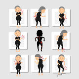 Sintomi di osteoalgia Fotografie Stock Libere da Diritti