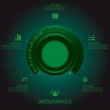 Sintonizador Business Infographics Design del botón Fotografía de archivo libre de regalías
