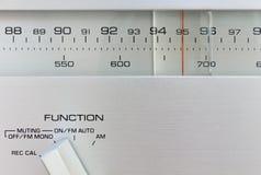 Sintonizador de radio de alta fidelidad Fotografía de archivo libre de regalías