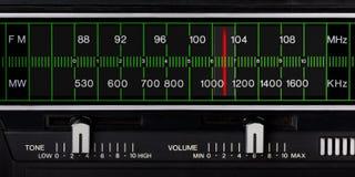 Sintonizador de radio de la vendimia imagen de archivo