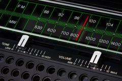 Sintonizador de radio de la vendimia fotos de archivo libres de regalías