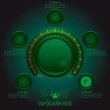 Sintonizzatore Business Infographics del bottone Fotografia Stock Libera da Diritti