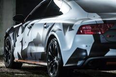 Sintonizzazione di Audi S7 Immagini Stock