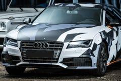 Sintonizzazione di Audi S7 Immagine Stock Libera da Diritti